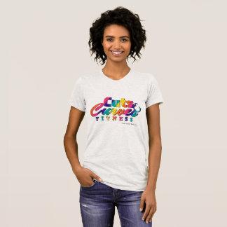 T-shirt Logo coloré américain de JerseyT CCF d'habillement