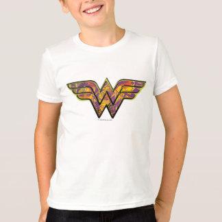 T-shirt Logo coloré de femme de merveille