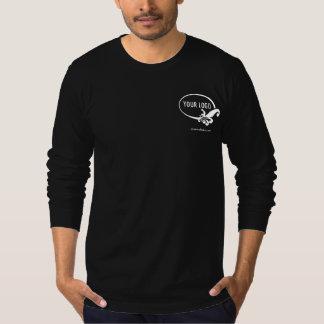 T-shirt Logo de Black Long Sleeve Shirt Uniform Company de