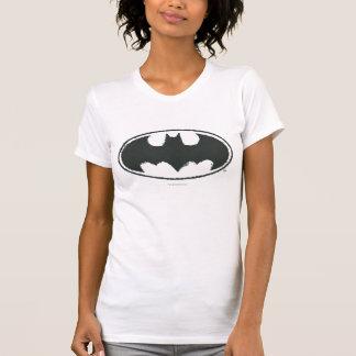 T-shirt Logo de blanc de noir de jet du symbole | de