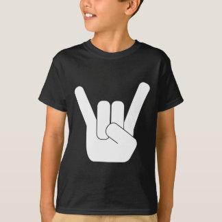 T-shirt Logo de blanc de RockSign