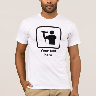 T-shirt Logo de chanteur -- Personnalisable