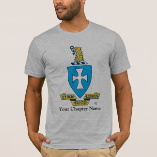 T-shirt Logo de crête de Chi de sigma