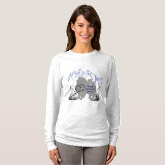 T-shirt Logo de délivrance de Keeshond d'Alberta - gris