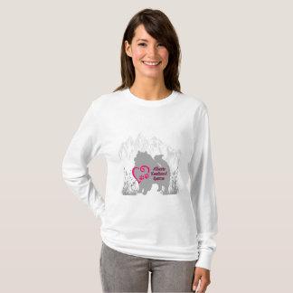 T-shirt Logo de délivrance de Keeshond d'Alberta - rose
