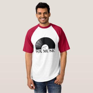 T-shirt Logo de disque de musique de Fox