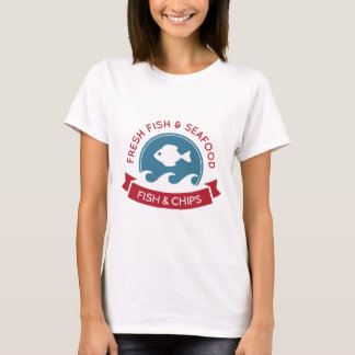 T-shirt Logo de fruits de mer de poisson-frites