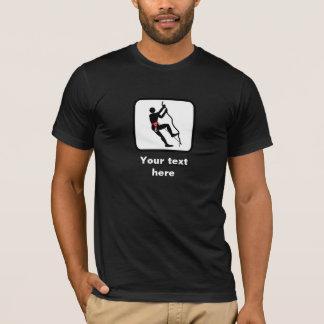 T-shirt Logo de grimpeur de roche -- Personnalisable
