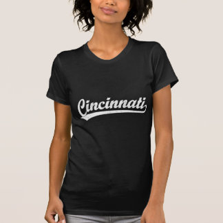 T-shirt Logo de manuscrit de Cincinnati dans le blanc