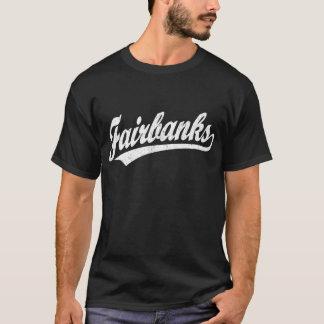T-shirt Logo de manuscrit de Fairbanks dans le blanc