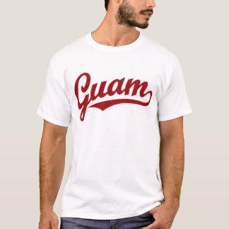 T-shirt Logo de manuscrit de la Guam en rouge