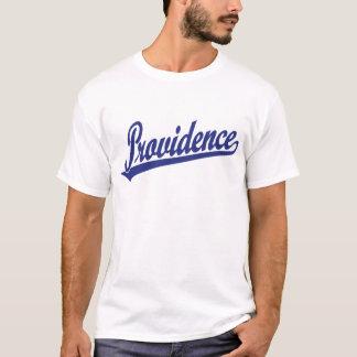 T-shirt Logo de manuscrit de Providence dans le bleu