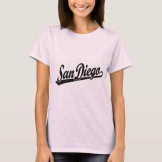 T-shirt Logo de manuscrit de San Diego dans le noir