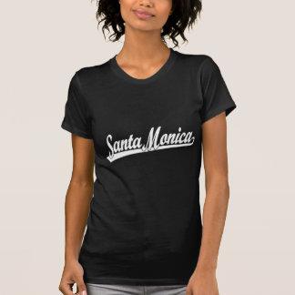 T-shirt Logo de manuscrit de Santa Monica dans le blanc