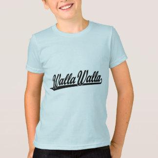 T-shirt Logo de manuscrit de Walla Walla dans le noir
