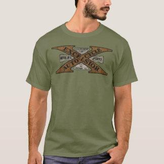 T-shirt Logo de moto de laine de bois rétro