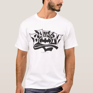 T-shirt Logo de nom de graffiti de Batman |