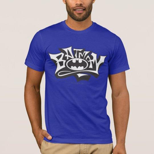 T-shirt Logo de nom de graffiti de Batman |