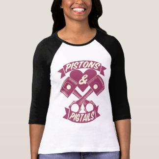 T-shirt Logo de pistons et de tresses