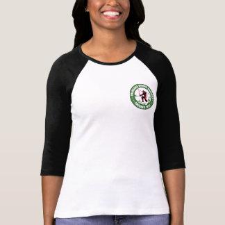 T-shirt Logo de poche de pièce en t du base-ball de Ladie