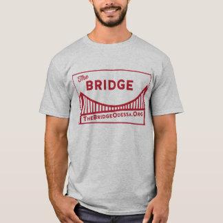 T-shirt Logo de pont de rectangle avec le DOS de site Web