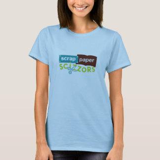 T-shirt Logo de Scizzors de papier de chute