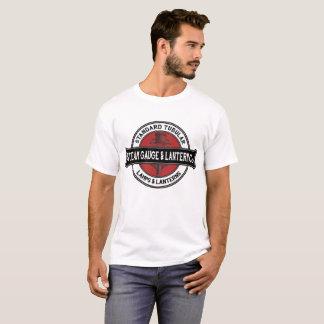 T-shirt Logo de société de lanterne de mesure de vapeur