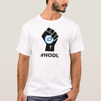 T-shirt Logo de tiret de HODL : Noir