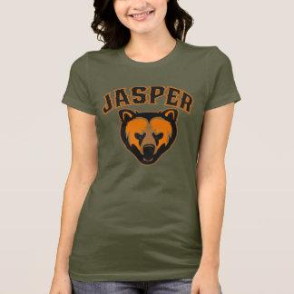 T-shirt Logo de visage d'ours de jaspe