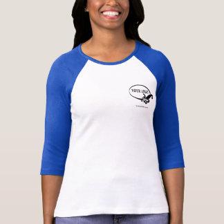 T-shirt Logo de Women Blue Raglan Shirt Uniform Company