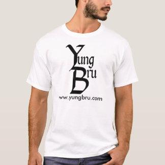 T-shirt Logo de Yung Bru avec le site Web