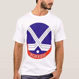 T-shirt Logo d'hockey dans le Russe