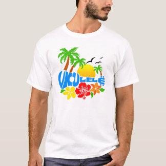 T-shirt Logo d'île d'ukulélé