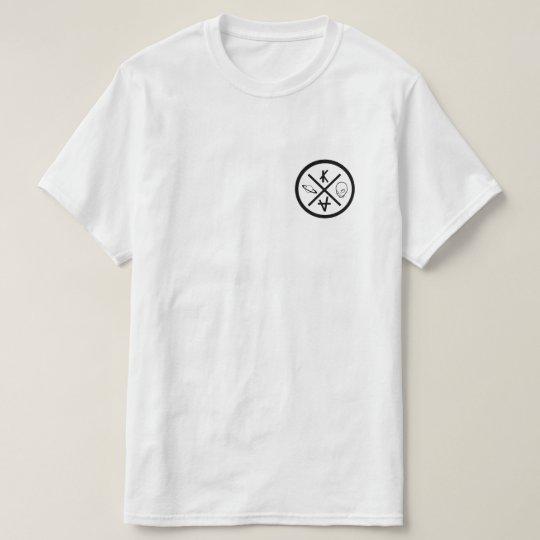 T-shirt logo et alien skateur