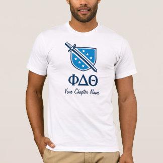 T-shirt Logo et lettres empilés - Blue1