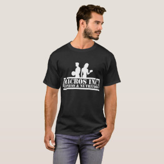 T-shirt logo foncé de blanc de la pièce en t des hommes