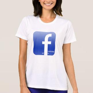 T-shirt Logo frustrant de Facebook d'épouse hilare