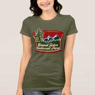 T-shirt Logo grand d'arbre de montagne de Teton