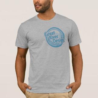 T-shirt logo gris de GRD de chemise de bruyère