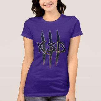T-shirt Logo grunge bleu de KSB