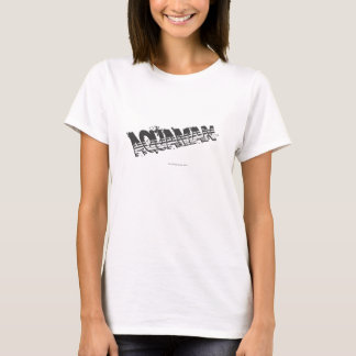 T-shirt Logo grunge de rayure d'Aquaman