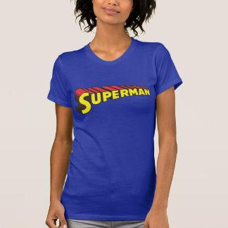 T-shirt Logo jaune de lettres de rouge de Superman |