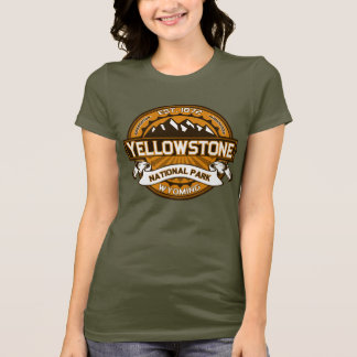 T-shirt Logo jaune d'or de parc national de Yellowstone