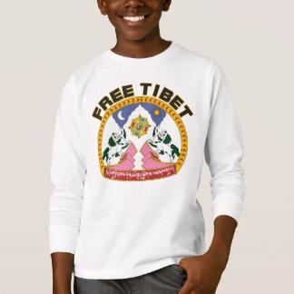 T-shirt Logo libre de drapeau du Thibet