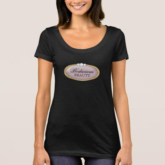 T-shirt Logo mauve d'or de beauté de diamant Bodacious de