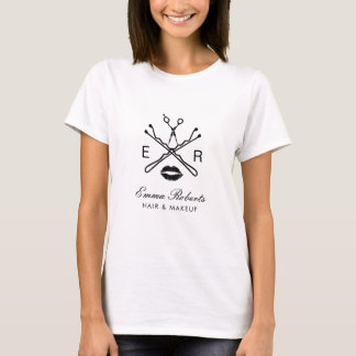 T-shirt Logo moderne de beauté de maquilleur et de