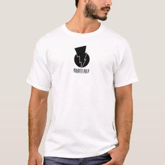 T-shirt Logo moderne de noir de pulpe - petit