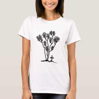 T-shirt Logo noir et blanc du bébé des femmes - chemise de