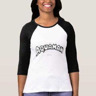 T-shirt Logo noir grunge 2 d'Aquaman