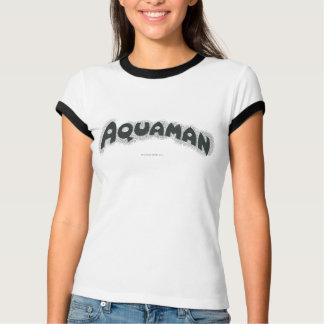 T-shirt Logo noir grunge d'Aquaman